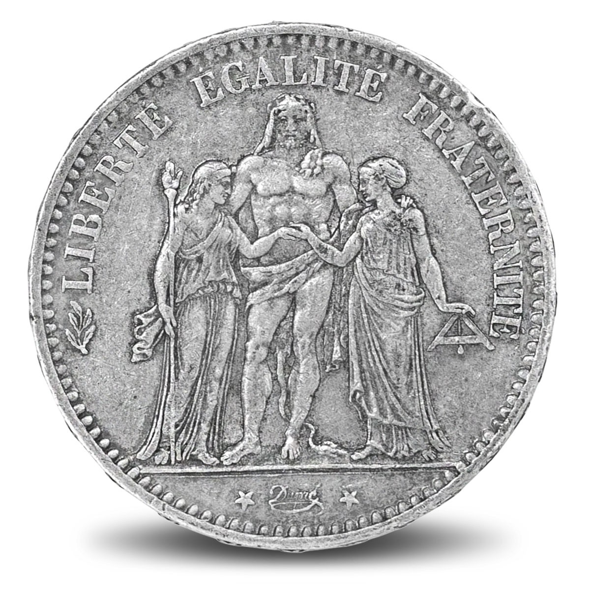 "Pièces d'argent / 5 Francs Hercule ""Ecu"""